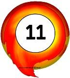 Free printable fireballs with numbers on for display