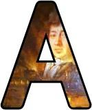 Free printable Great Fire of London, Samuel Pepys display letters, lettering sets.