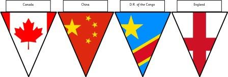 image relating to Flags of the World Printable Pdf titled Free of charge Printable Bunting