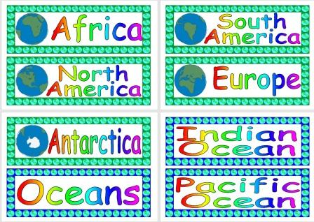 Instant Display Teaching Resources World Geography