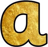 Free printable instant display lettering sets for classroom bulletin board displays - Textured shiny gold alphabet