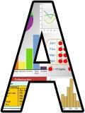 Free printable Maths graphs and charts background instant display lettering sets for classroom display.