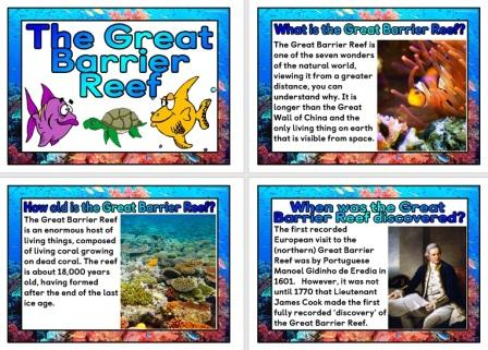 Free Printable Posters about the Great Barrier Reef