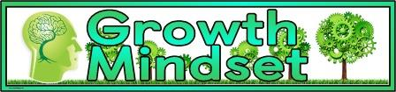 Free printable 'Growth Mindset' banner for classroom display.