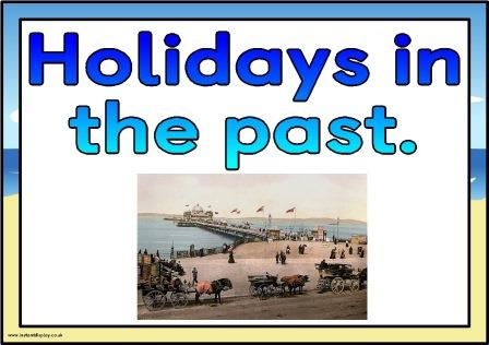 Free printable Holidays in the past posters for classroom display.