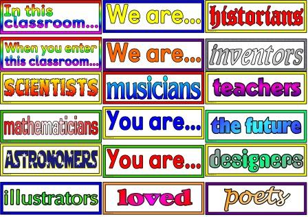 Free Printable 'In this Classroom/School you are... display for classroom display, corridor display or hall, whole school display.