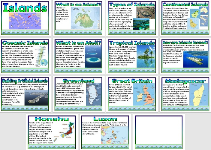 Free printable Islands Geography Teaching Resource