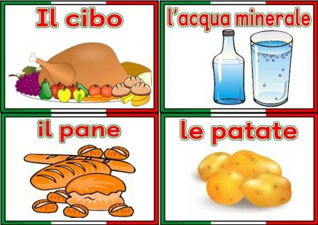 Free printable Italian Food and Drink Vocabulary Cards