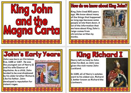 History Teaching Resource - King John and the Magna Carta