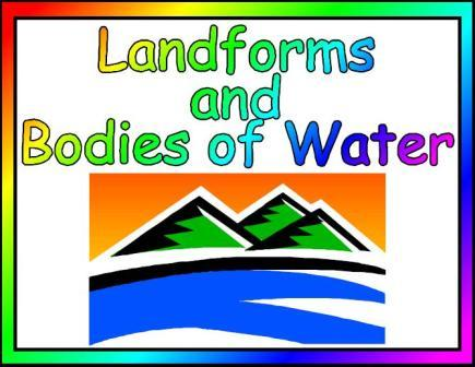 Worksheets Landforms And Bodies Of Water Worksheets landforms and bodies of water lessons tes teach water