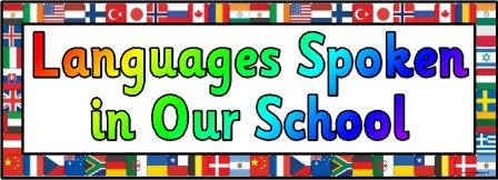 Free printable Languages Spoken in Our School banner