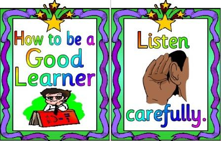 Free printable how to be a good learner simple Posters