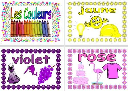 Free French Vocabulary Posters Les Couleurs Colours