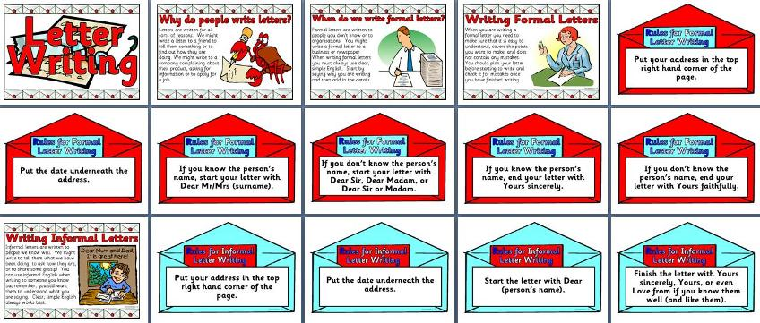 Ks2 literacy resource features of formal and informal letter free printable features of letter writing posters free english teaching resource posters for display spiritdancerdesigns