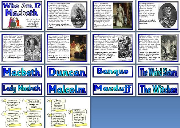 Literacy Resource - William Shakespeare's Macbeth Characters