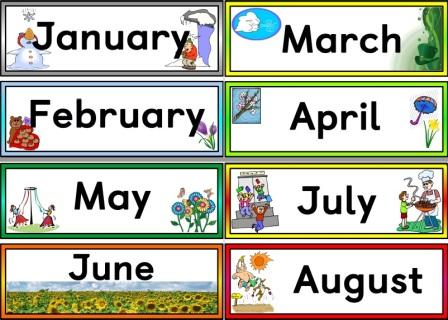 image about Months of the Year Printable referred to as Instantaneous Present Education Components