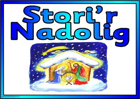 Free printable Nativity story in Welsh posters. Stori'r Nadolig posters, free to print for classroom, church and Sunday School display.
