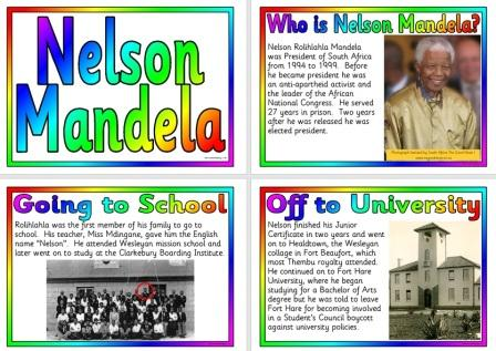 Free Printable Information posters about Nelson Mandela