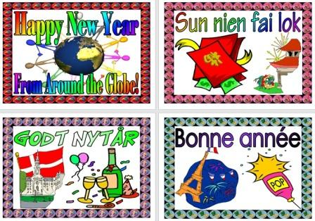 Free Printable Happy New Year in different Languages