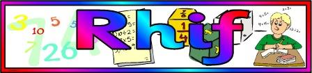 Free printable Rhif Banner, Number Maths banner for classroom display
