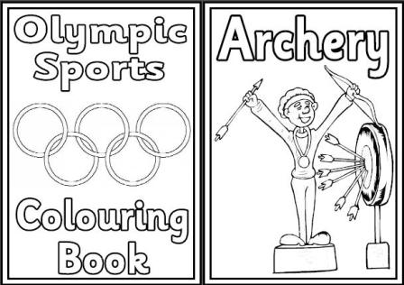 Free Olympic Games colouring book.