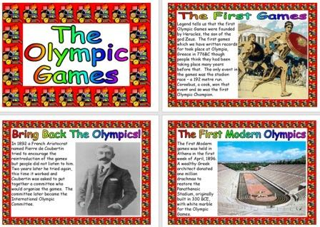 Free Printable Olympic Games Information Posters