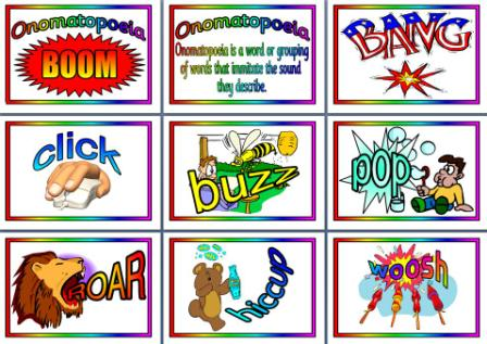 SOUND WORDS ... onomatopoeias ... FLIPS-FLAPS