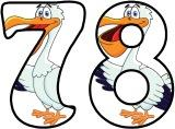 Cartoon Pelican background instant display lettering sets for classroom display.