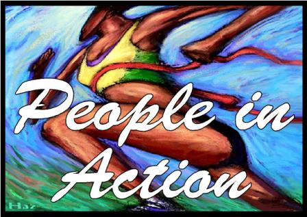 People in Action Display Posters
