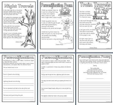 of poems worksheets worksheet 4 personification ks2 examples showing ...