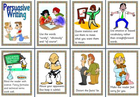 how to write a persuasive leaflet ks2