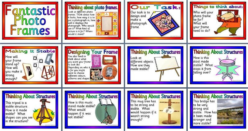 Design Technology Teaching Resources - QCA Unit Photo Frames Posters ...