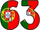 Free printable flag of Portugal background instant display lettering sets for classroom display.
