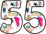 Free printable Puppets background instant display lettering sets.
