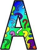 Free printable question mark background instant display lettering sets for classroom display.