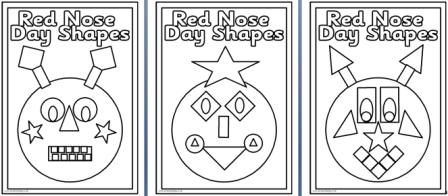 Comic Relief Coloring Pages Five Printable Shape w