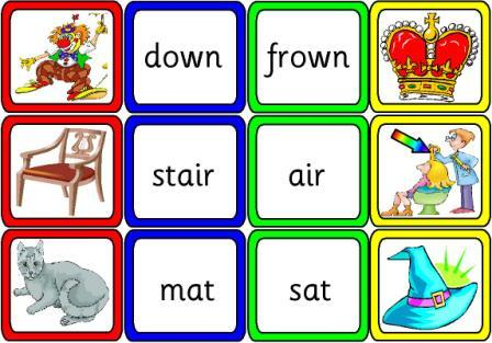 Printables Rhymes Words Examples literacy resources ks1 and ks2 reading many free posters rhyming words pictures cards match the to written rhymes or depending on ability level