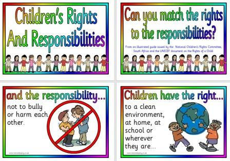Free Printable Children's Rights and Responsibilities