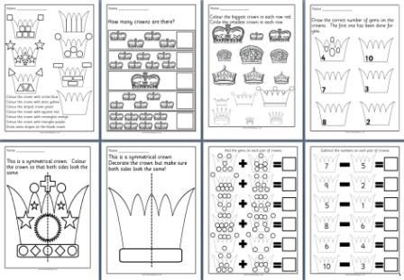 math worksheet : free diamond jubilee teaching resources posters printables  : Early Years Maths Worksheets