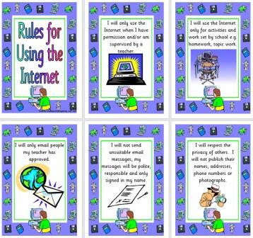 Free Printable Rules for Using the Internet Posters