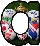Free printable Rugby World Cup lettering sets for classroom display