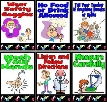 Science Lab Safety Free Printable Posters