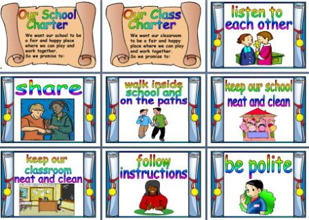 image relating to Classroom Rules Printable identified as Higher education and Clroom Recommendations Printable Posters for Major