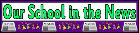Free printable Our School in the News banner