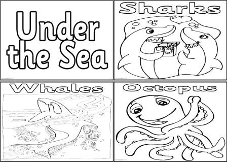 Free Under the Sea Colouring Pages