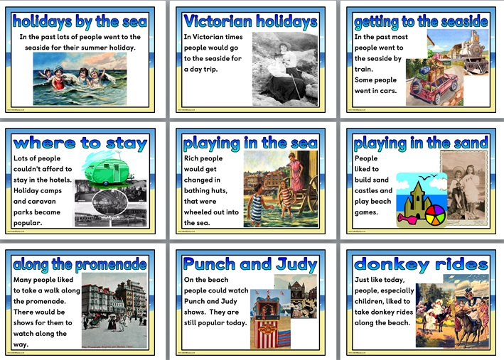 free ks1 history teaching resource seaside holidays in the past printable classroom display. Black Bedroom Furniture Sets. Home Design Ideas