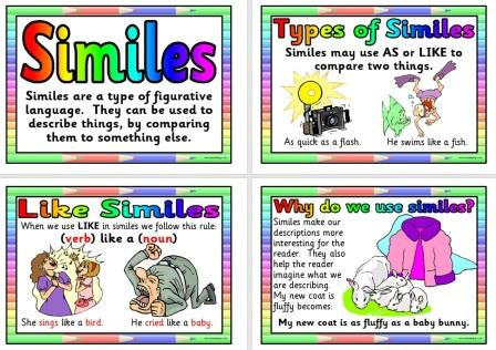 "Simile Definition- Compares two different things using ""like"" or ..."