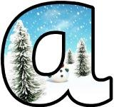 Free printable snowman background winter instant display lettering sets for classroom display