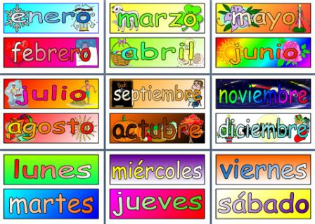 MFL Spanish Resource - Days of the Week and Months of the Year Posters
