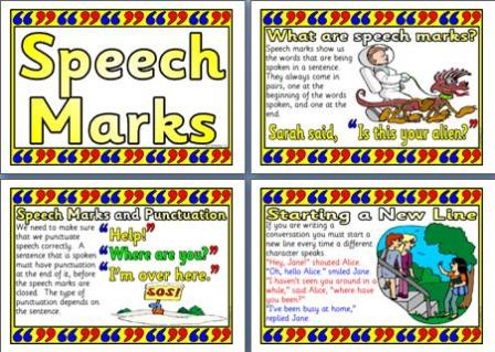 Speech marks homework